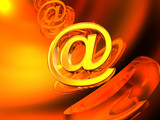 Endless abstract e-mail symbol poster