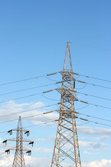 two electric towers