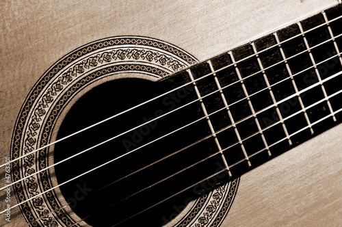 close-up guitar fragment
