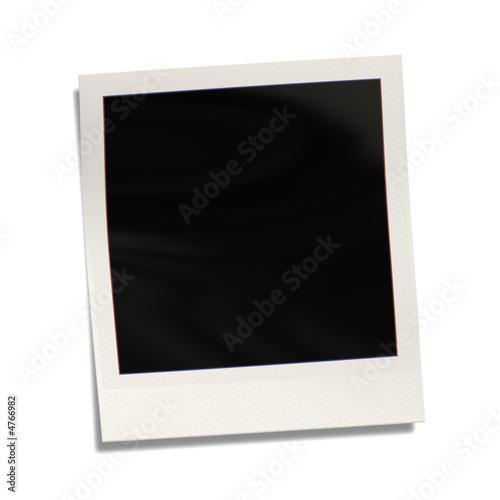 Leinwandbild Motiv empty polaroid photograph