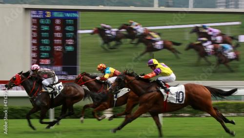Fotobehang Paardrijden Horse Racing