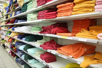 clothes department in shop