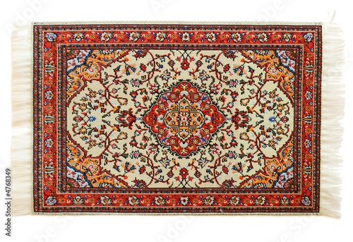 oriental carpet isolated on white background - 4768349
