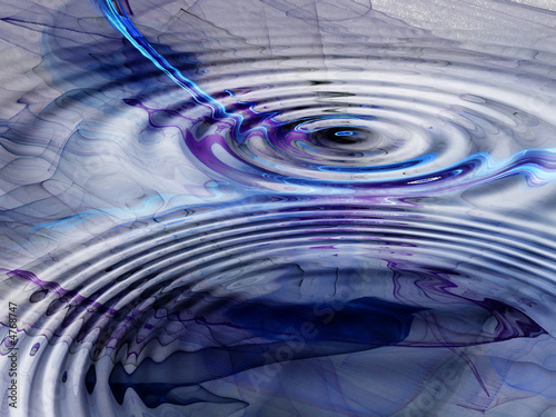 Fotobehang Fractal waves Abstract Graphic