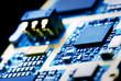 Leinwanddruck Bild - the electronics technology