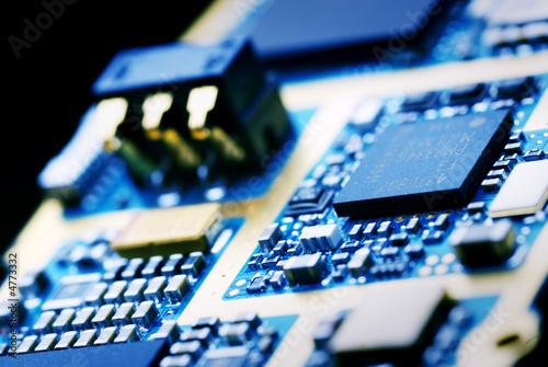 Leinwanddruck Bild the electronics technology