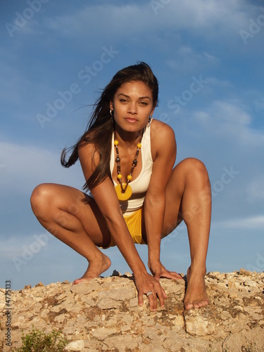 Woman in the desert 2