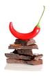 Chilischote und Bitterschokolade