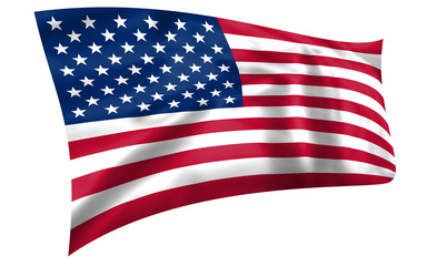 United States of America Stars and Stripes flag flying