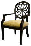 Traditional Style Accent Chair in Black and Gold Finish poster