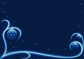 Blue Xmas Snow - christmas background