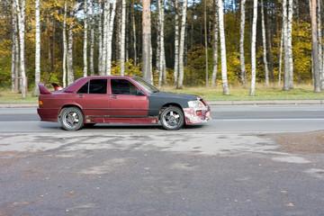 street race battered beaten car grunge of my cars series