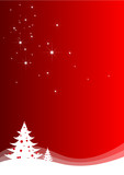 Fototapety Abstract christmas landscape