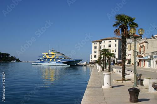 Promenade in Porec (Kroatien)