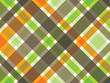 retro orange green brown plaid pattern