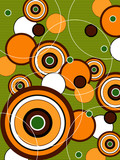 retro orange and green pop circles