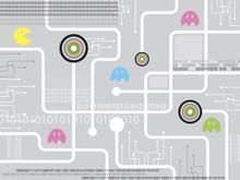 Pacman obwodami zabawy