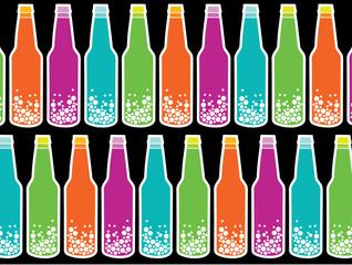 rainbow soda pop on black
