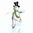 Snowman Skating 1