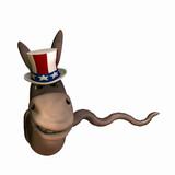 Political Snake - Democrat poster