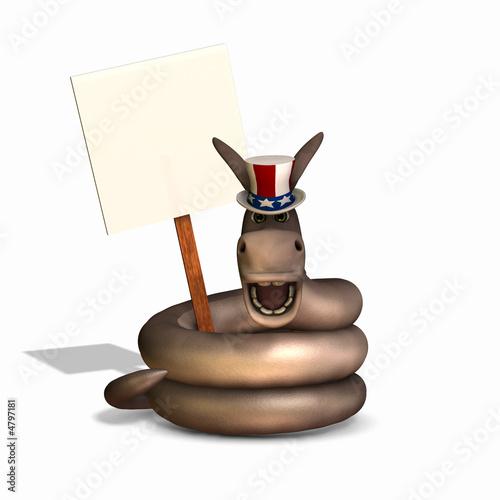 poster of Political Snake - Democrat