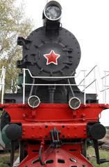 Locomotive - monument on the siding track