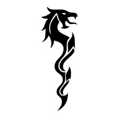 dragon vector tatoo