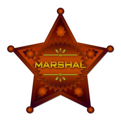 Marshal abstract badge. Isolated
