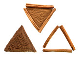 cinnamon sticks and ground in triangle compositions poster