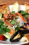 seafood salad - Langoustines or lobster, prawns, mussels and veg poster