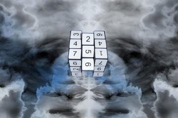 Cubo Numérico blanco