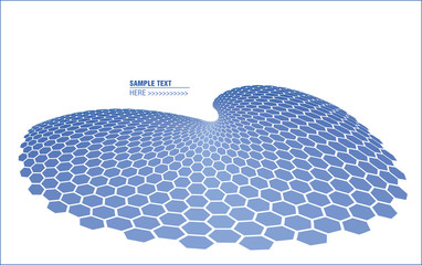 abstract cellular blue wave as template for design
