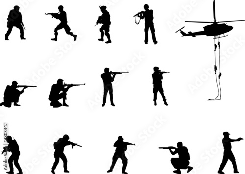 armed forces silhouettes