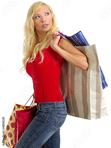 sexy shopping woman