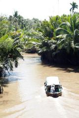 Ein Nebenarm des Mekong-Delta in Vietnam