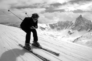 skier en vitesse