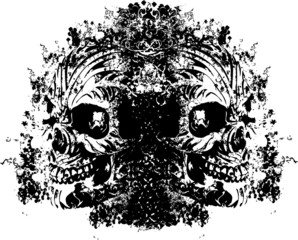 Demonic skull illustration