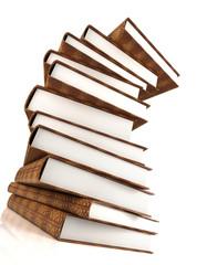 books massive isolated on white #3