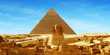 Leinwandbild Motiv Great Sphinx of Giza - panorama