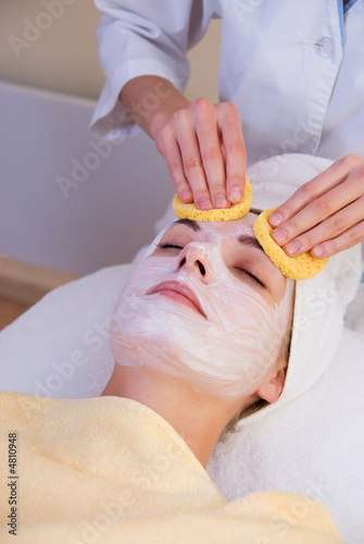 poster of Beautiful girl in spa salon