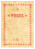 Vintage Prize Certificate Paper Texture Background poster