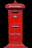 Ancient red postbox from the Netherlands poster
