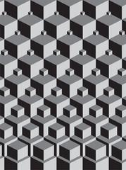 escher inspired stacking cubes art