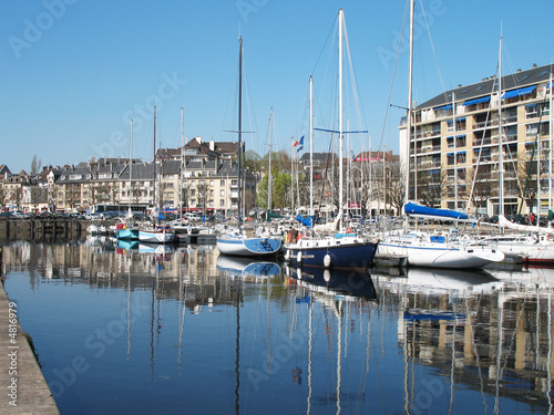Port in Caen, France