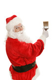 Santa with Paintbrush poster