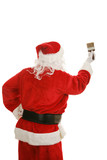 Santa with Paintbrush Rear View poster