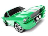 Fototapety Green Classical Sports Car