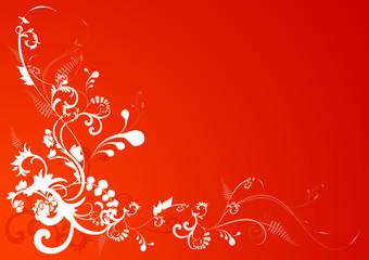 Cartolina floreale d'auguri
