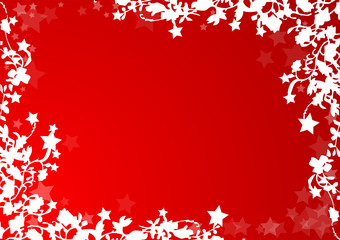Cartolina floreale - Auguri di Natale