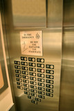Elevator buttons poster